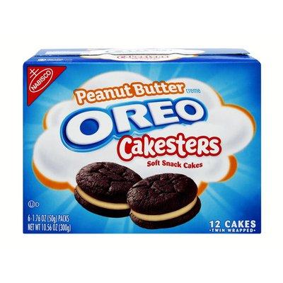 Oreo Nabisco Oreo Cakesters Peanut Butter Creme Soft Snack Cakes - 12 PK (10.56 oz) - Instacart