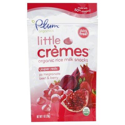 Plum Organics Rice Milk Snacks, Little Cremes, Super Reds, Pomegranate Beet & Berry, Organic, Pouch