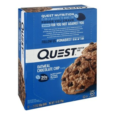 Quest Quest Protein Bar, Oatmeal Chocolate Chip