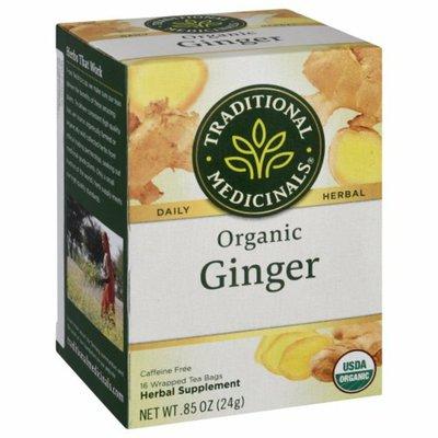 Traditional Medicinals Organic Ginger Caffeine Free Herbal Tea