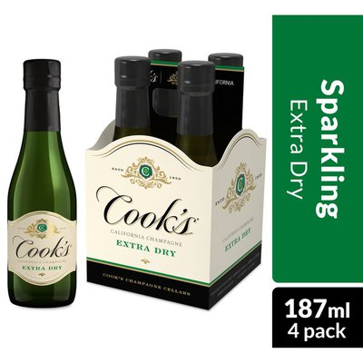 Cook's California Champagne Extra Dry White Sparkling Wine Mini Bottles