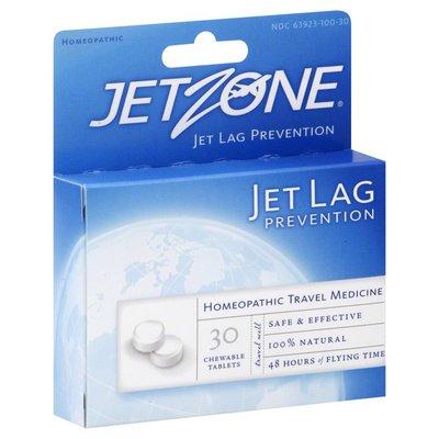 JetZone Jet Lag Prevention, Chewable Tablets