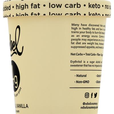 Rebel Ice Cream, Natural Vanilla