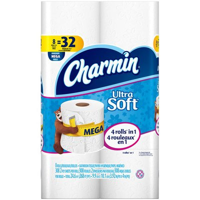 Charmin Ultra Charmin Ultra Soft Toilet Paper 8 Mega Rolls Toilet Tissue