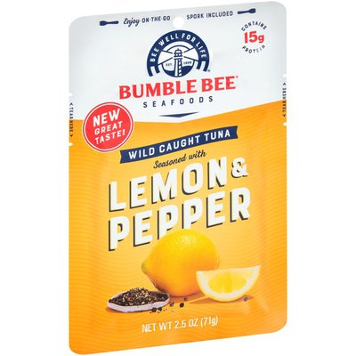 Bumble Bee Wild Caught Tuna Seasoned with Lemon & Pepper