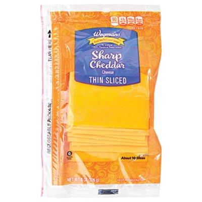 Wegmans Thin Sliced Sharp Cheddar Cheese