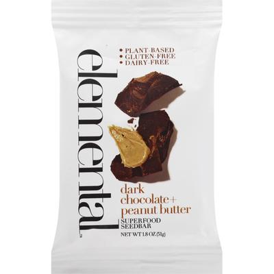 Elemental Superfood Superfood SeedBar, Dark Chocolate + Peanut Butter