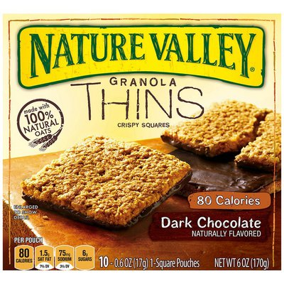 Nature Valley Dark Chocolate Granola Thins Crispy Squares