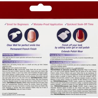 Kiss Nail Kit, Brush-on-Gel, Short Length