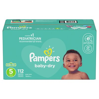 Pampers Baby Dry Diapers Size 5 112 Count Diapers
