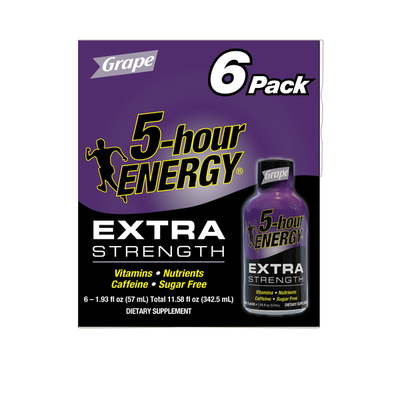 5-hour ENERGY Energy Drink, Extra Strength, Grape, 6 Pack