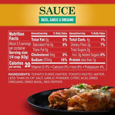 Hunt's Tomatoes Sauce With Basil Garlic And Oregano