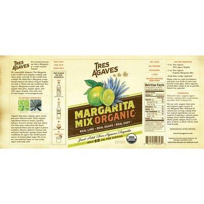 Tres Agaves Mixers Organic Lime Margarita Mix