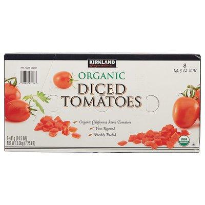Kirkland Signature Organic Diced Tomatoes, 8 x 14.5 oz