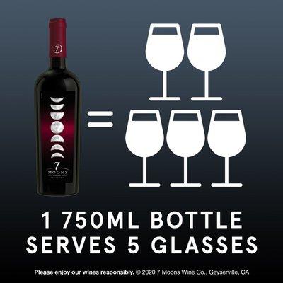 7 Moons Dark Red Blend Red Wine