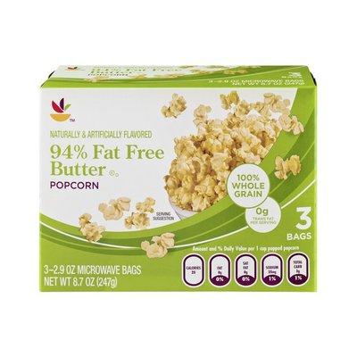 SB 94% Fat Free Butter Popcorn - 3 CT