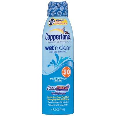 Coppertone Wet'n Clear AccuSpray Broad Spectrum SPF 30 Spray Sunscreen