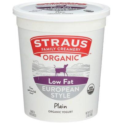 Straus Family Creamery Organic Low Fat European Style Plain Yogurt