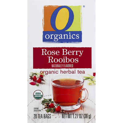 O Organics Herbal Tea, Organic, Rose Berry Rooibos, Bags