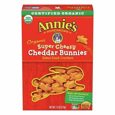Annie's Organic Extra Cheesy Cheddar Bunnies Snack Crackers