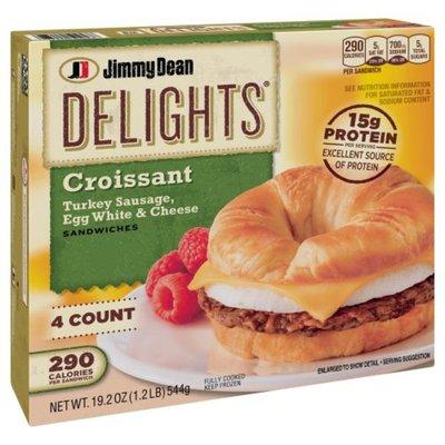 Jimmy Dean Delights Frozen Turkey Sausage, Egg White & Cheese Croissant Sandwiches