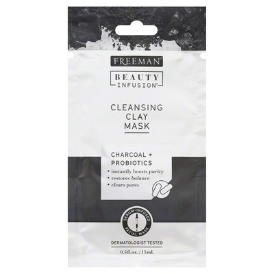 Freeman Facial Mask, Clay, Cleansing, Charcoal + Probiotics