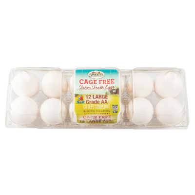 Sprouts Cage Free Large Grade AA White Eggs