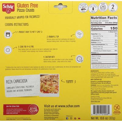 Schar Gluten-Free and Wheat-Free Pizza Crusts