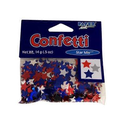 Creative Expression Red Blue & Silver Metallic Star Confetti