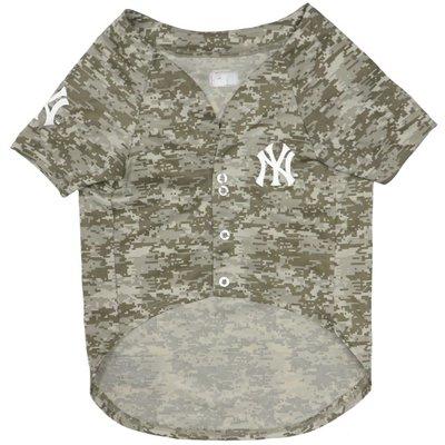 Pets First Medium MLB New York Yankees Camo Dog Jersey