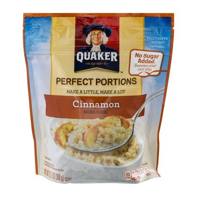 Quaker Perfect Portions Oatmeal Cinnamon
