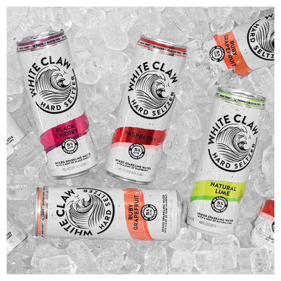 White Claw Hard Seltzer, Natural Lime/Raspberry/Ruby Grapefruit/Black Cherry, Spiked, Variety Pack, 12 Pack