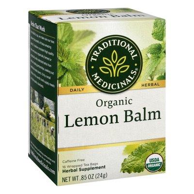 Traditional Medicinals Organic Lemon Balm, Caffeine Free Herbal Tea