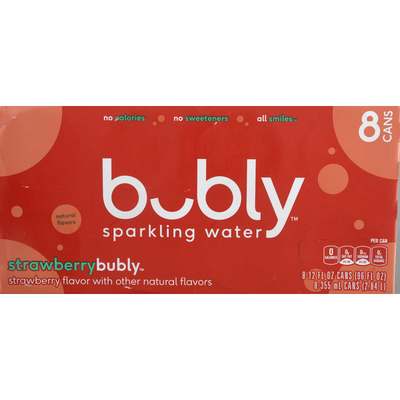 bubly Sparkling Water Strawberry