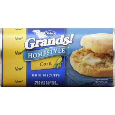 Pillsbury Biscuits, Big, Homestyle, Corn