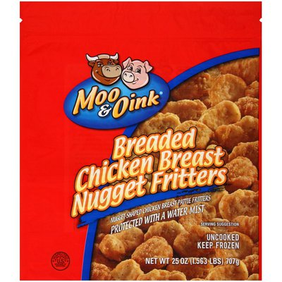 Moo & Oink Breaded Chicken Breast Nugget Fritters