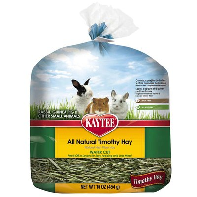 Kaytee All Natural Timothy Wafer Cut Hay For Rabbits, Guinea Pigs & Other Small Animals