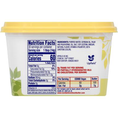 I Can't Believe It's Not Butter Buttery Spread Vegan
