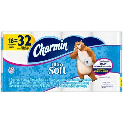 Charmin Ultra Soft Bathroom Tissue, Double Rolls