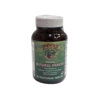 Natural Papaya Plus Enzymes Vegetarian Chewable Tablets