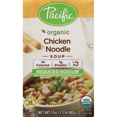 Pacific Organic Chicken Noodle Soup Reduced Sodium