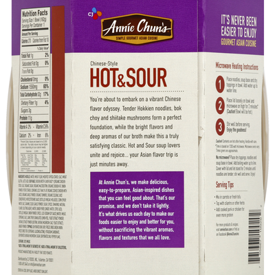 Annie Chun's. Hot & Sour Soup Bowl