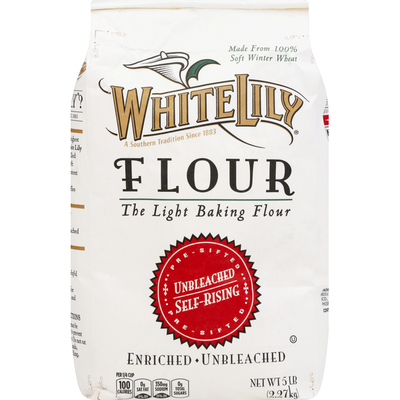 White Lily Flour, Unbleached, Self-Rising