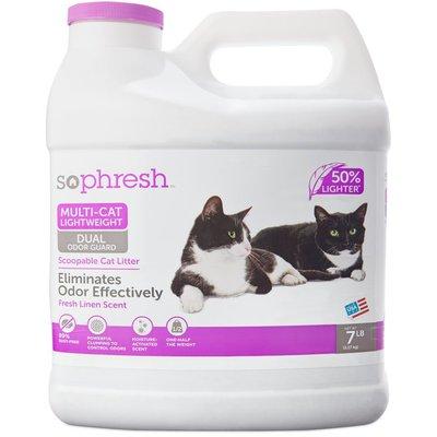 So Phresh Multi-Cat Lightweight Dual Odor Guard Scoopable Cat Litter