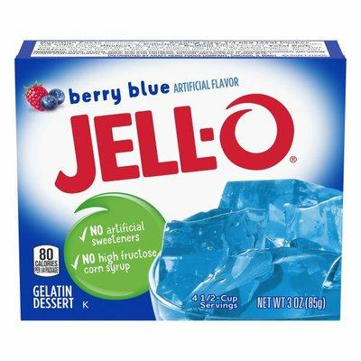 Jell-O Berry Blue Gelatin Dessert Mix