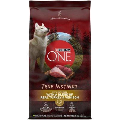 Purina ONE High Protein, Natural Dry Dog Food, True Instinct With Real Turkey & Venison
