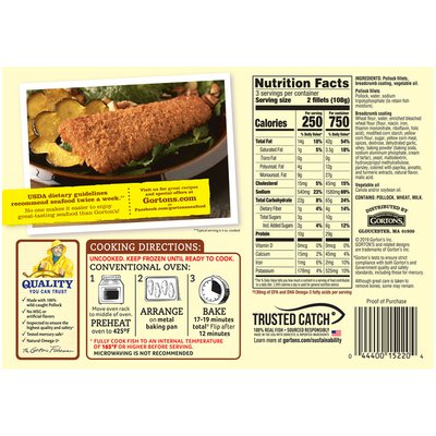 Gorton's Southern Style Breaded Fish Fillets