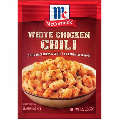 McCormick® White Chicken Chili Seasoning Mix
