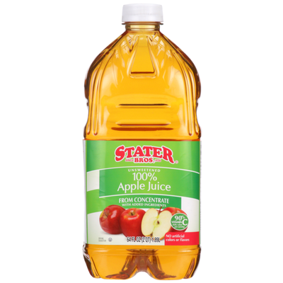 Stater Bros. Markets 100% Unsweetened Apple Juice From Concentrate