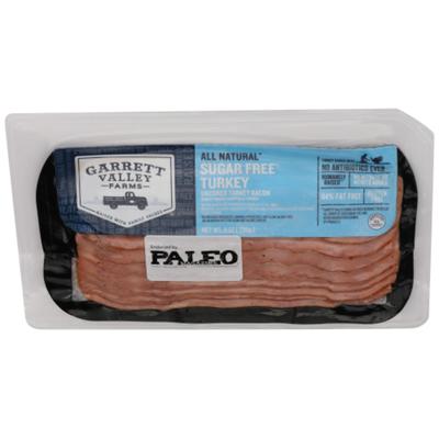 Garrett Valley Sugar Free Turkey Bacon